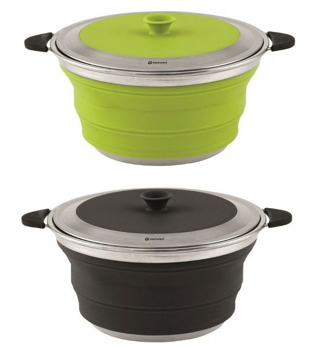 Outwell Collaps Pot with Lid L 4.5L, Camping & Outdoor Leisure Accessories, Camping Equipment | Camping accessories | Outdoor Leisure equipment - Grasshopper Leisure